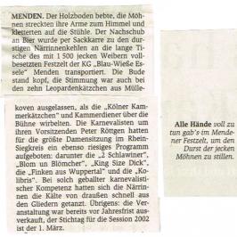 Extrablatt 22.02.2001