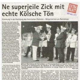 Extrablatt 23.01.2003